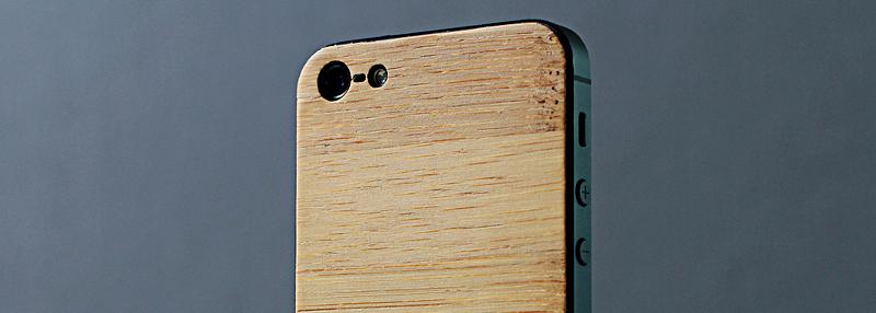 iPhone 5 деревянная панель Бамбук