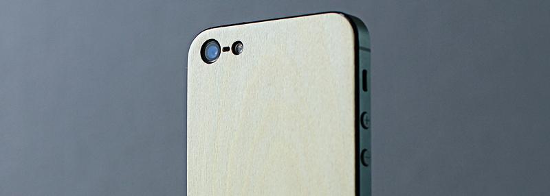 iPhone 5 деревянная панель Клен