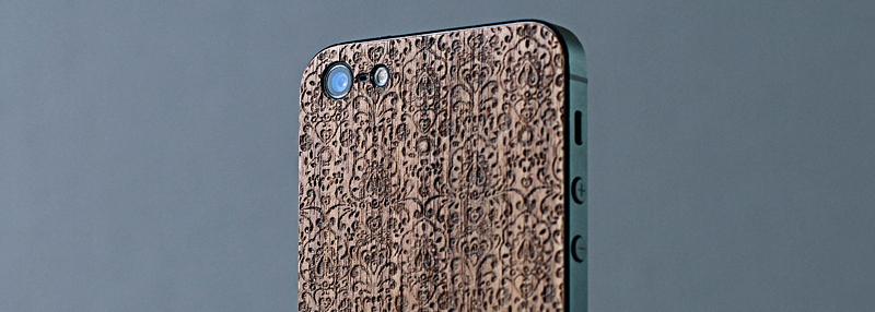 iPhone 5 отделка деревом