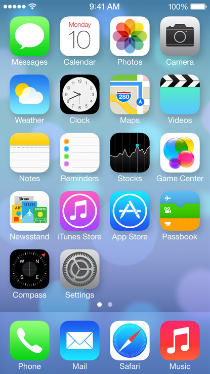 iOS 7 Screen